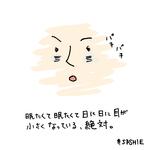 眠たくて眠たくて日に日に目が小さくなってってる、絶対。